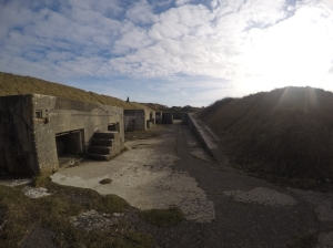 High Angle Battery at Portland, Dorset, UK